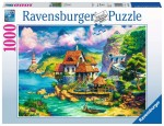 Puzzle Castor 500 - Urocza Aleja z czerwonym rowerem, Charming Alley with Red Bicycle