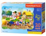 Puzzle Castor 60 - Bolid na torze, Racing Bolide on Track