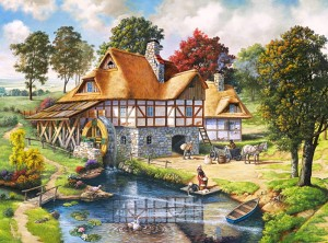 Puzzle Castor 3000 - Jaguar z małymi, Jaguars in the Jungle