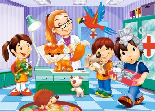 Puzzle Castor 30 Zielona Lokomotywa Green Locomotive